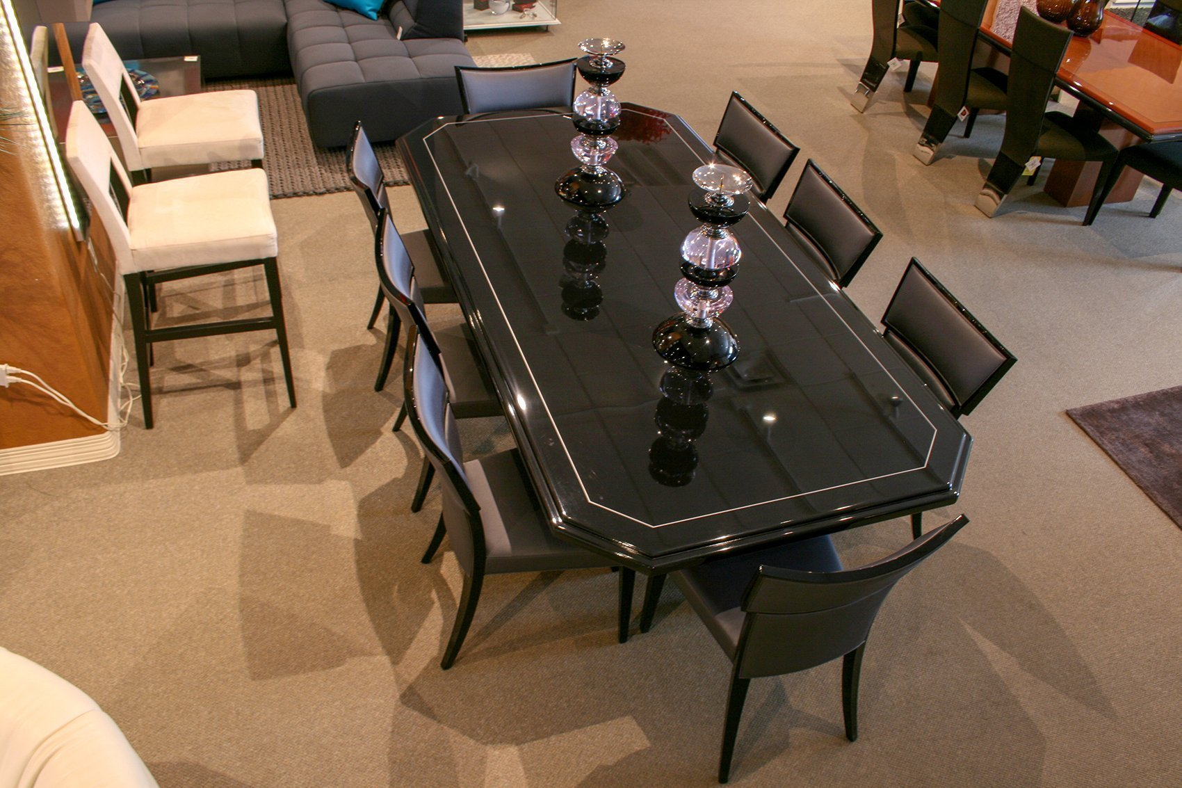 Pdm Dining Table Black Lacquer Parnian Furniture
