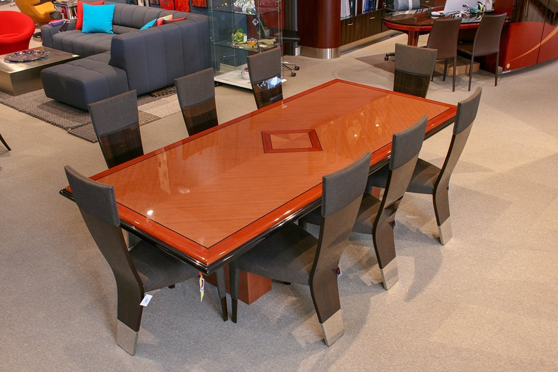 Pdm Dining Table Curly Maple, Dining Room Set Maple