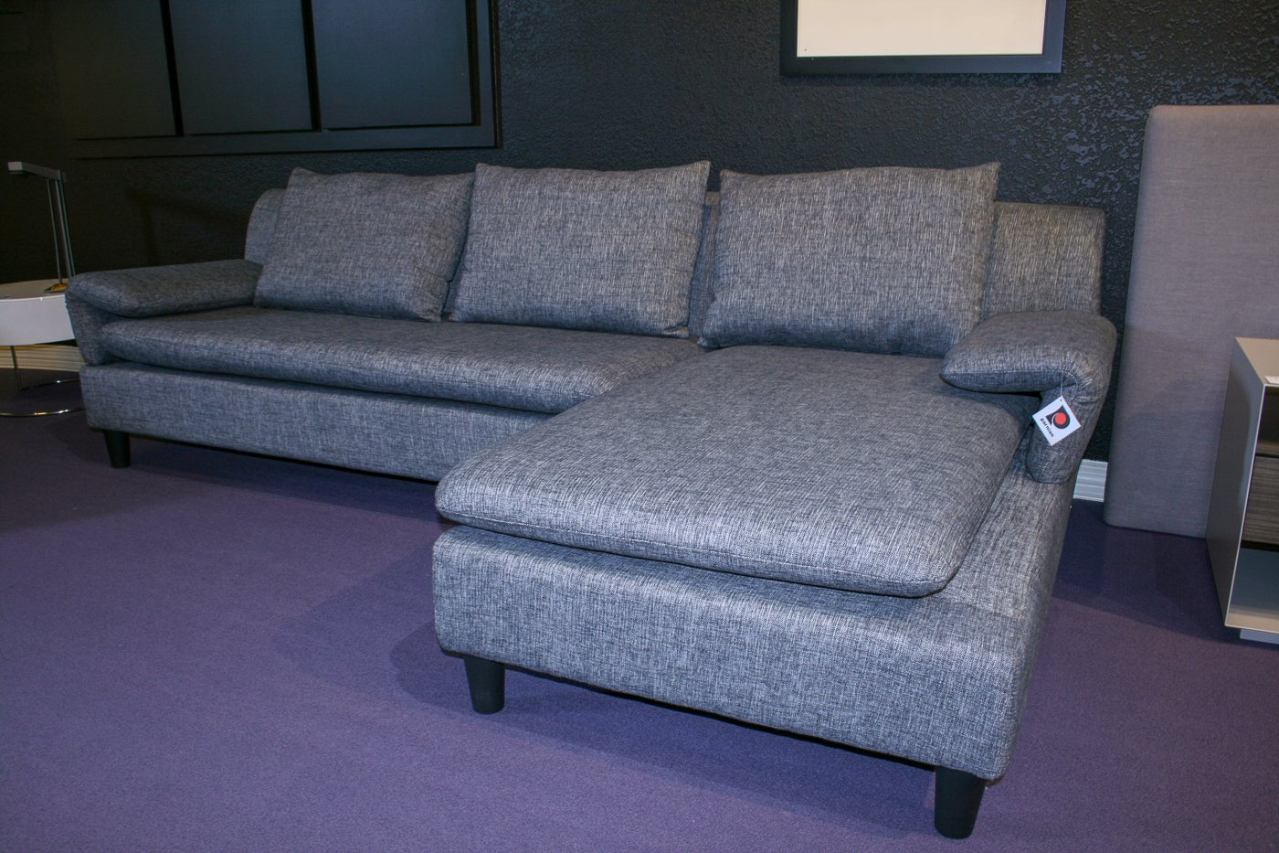 Prime Grey Tweed 2 Piece Sectional Lamtechconsult Wood Chair Design Ideas Lamtechconsultcom